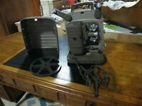 Vintage Bell & Howell Monterey 253 R 8MM Projector in Carrying Case #28