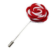 Bavero Fiore Camellia Boutonniere Stick Spilla Camicie Uomo Tuta Rosso Bianco