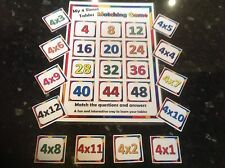 times table matching game numbers childminder school nursery EYFS SEN Autism KS1