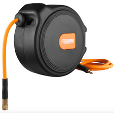 Freeman 65 feet Air Compressor Pneumatic Inflator Hose Reel Retractable Tool Kit