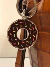 Metal Enamel Chocolate Donut with Sprinkles Key Ring/Purse Charm Key Chain