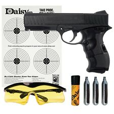 Daisy PowerLine 408 8-shot BB/Pellet CO2 Semi-Auto Pistol Kit with Glasses & BBs
