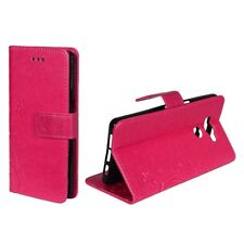 Cases Flowers for Mobile Phone Elephone P9000 Pink Wallet Cover Art. Leather