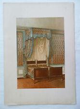 ANCIENNE CHROMO 1880 / TENTURE DE LIT / STYLE LOUIS XVI / PL13