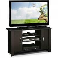 "Wood 42"" TV Stand Entertainment Espresso Furniture Center Organizer Living Room"