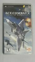Ace Combat X Skies Of Deception (PSP, 2006) Complete Manual Case Game Disc
