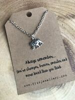 Always Remember Silver Plated Elephant Necklace Quote Gift Message Card