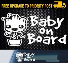 BABY GROOT ON BOARD Sticker guardians of the galaxy car window decal 200mm