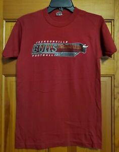 Vintage 80s JACKSONVILLE BULLS FOOTBALL USFL  MAROON T-Shirt Champion Medium M