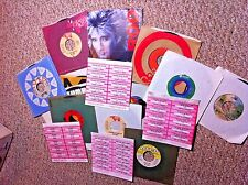 CHER, BEE GEES, CARPENTERS and MANY MORE classic rock 45rpm 45's lot