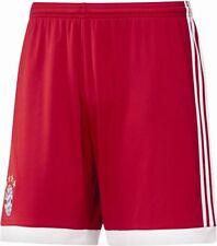 Adidas FC Bayern Munich FCB Mens Football Home Shorts 2017 2018 Red White