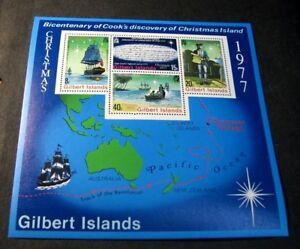 Souvenir Sheet Foreign Gilbert Island Scott# 303a Capt. Cook 1977 MNH C504