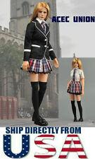 "1/6 Women Clothes Girl School Uniform Set For 12"" Phicen Hot Toys U.S.A. SELLER"