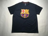 FCB Mens Short Sleeve Tee Shirt, Barcelona Soccer Futbol, Blue, XL, R