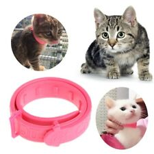 Cat Kitten Adjustable Pet Collar Neck Strap Remedy Anti Flea Mite Acari Tick Red