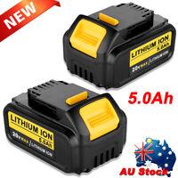 2 NEW For DEWALT 18V 5.0Ah XR DCB184 DCB184-XE LI-Ion Slide BATTERY PACK DCB182