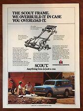 Vintage 1976 Original Print Ad SCOUT INTERNATIONAL HARVESTER ~Frame Overbuild~