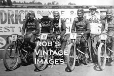 Harley Davidson Motorcycle racing team Photo   Antique  8X10