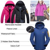 Women's Waterproof Ski Jacket Fleece Lined Super Warm Snow Outdoor Hiking Coat