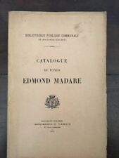 Catalogue du fonds Edmond Madare - Boulogne sur mer - 1914