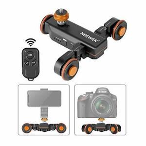 Neewer 3-wheel wireless camera video auto dolly electric track rail slider Black