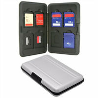 Micro SD SDHC SDXC Card Holder Memory Card Storage Case Aluminum 16 slots