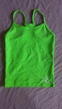 "MakAmy Girls Active Wear Lime Green ""Dance HQ"" Singlet BNWOT Dance Gym sz8 (52)"
