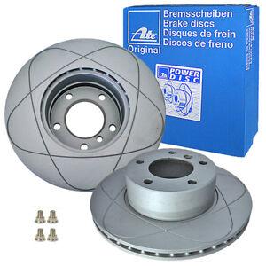 2x ATE Power Disc Disques de Frein Avant BMW 5er E60 E61 24.0324-0181.1
