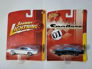 Johnny Lightning 1970 Buick GSX White Release JL3 & Black Spoilers Release JL9