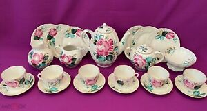 "VERY RARE porcelain set LFZ (LOMONOSOV) ""ROSE"". 1 GRADE. MANUAL PAINTING"