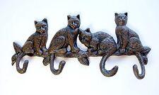 Cast Iron Four Cats Key Rack