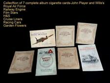 Collection of 7 complete album of vintage 40s and 50s cigarette cards