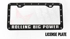RBP WHEELS    RBP  License Plate Frame  Black / Chrome Logo & Rivits  RBP Wheels