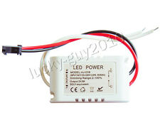 2pcs 3x3W Dimmable LED Light Driver/Transformer 9W Power Supply 600mA