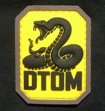 DTOM DON'T TREAD ON ME TEA PARTY SNAKE COLOR VELCRO® BRAND FASTENER PATCH