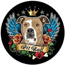 ***Pitbull with Wings and Crown Car Magnet***