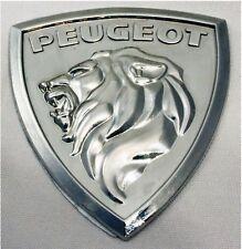 Enamel Chrome 3D PEUGEOT LION car badge 107 206 207 GTi