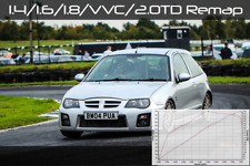 MG ZR ZS ZT F TF Rover 25 45 75 Remap 1.4 1.6 1.8 VVC 105 120 135 160