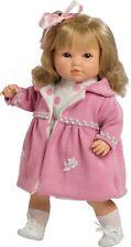 Berbesa- Muñeca Sandra habladora, abrigo rosa . Caja. (4418)