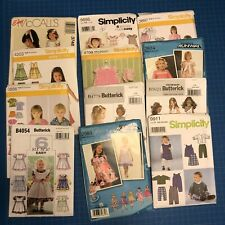 Lot 12 Children's Clothing Sewing Patterns - Factory Folded In Original Envelope