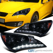 Glossy Black Fit 10-12 Hyundai Genesis Coupe SMD LED Strip Projector Headlights