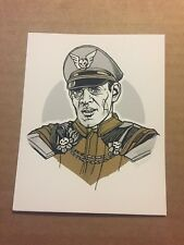 Tyler Stout M. Bison Street Fighter Raul Julia VARIANT Mini Art Print Handbill
