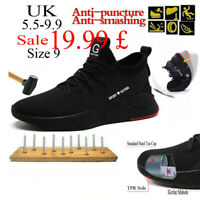 Safety Shoes Mens Steel Toe Cap Sport Work Shoes Protective Footwear Trainers UK