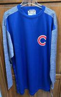 Majestic Chicago Cubs MLB Baseball Therma Base Pullover Shirt Blue Men XL Tall