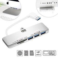 Cateck ultra-sottile in alluminio Premium 3-Port Hub USB 3.0 con SD/TF Card Reader per
