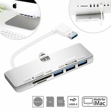 Cateck Premium de aluminio ultra delgada de 3 puertos USB 3.0 Hub con SD/TF Lector De Tarjetas Para