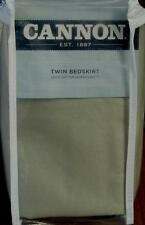 "Cannon Twin 220TC Sateen Bedskirt - Sage Microsuede - 39"" x 76"" x 15""  BRAND NEW"