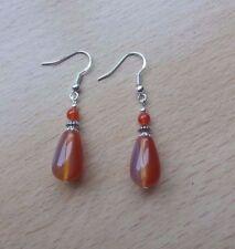 Hook Carnelian Handmade Not Enhanced Fine Earrings
