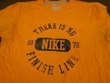 83c9c6250 Nike There is No Finish Line Orange Large Regular Fit T Tee Shirt P6