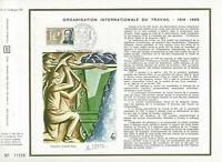 FEUILLET CEF 1er JOUR FRANCE ORGANISATION INTERNATIONALE DU TRAVAIL 1969